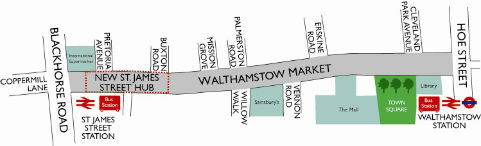 Walthamstow Market map